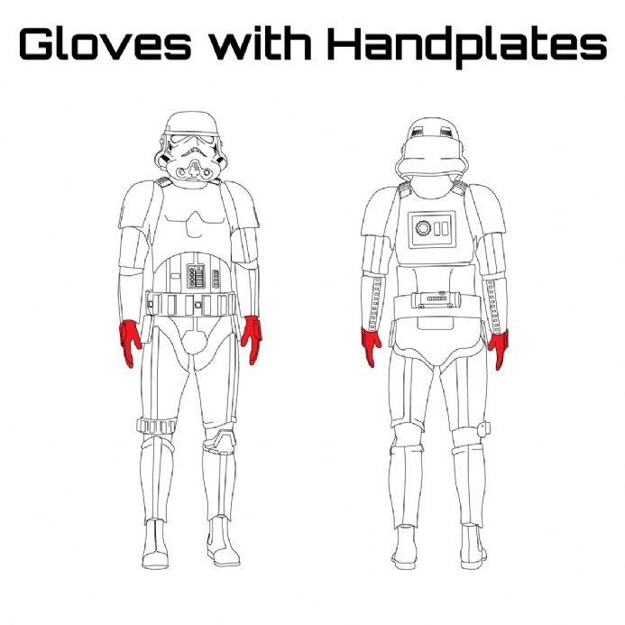 ORIGINAL STORMTROOPER ARMOUR PARTS [Gloves with Handplates]